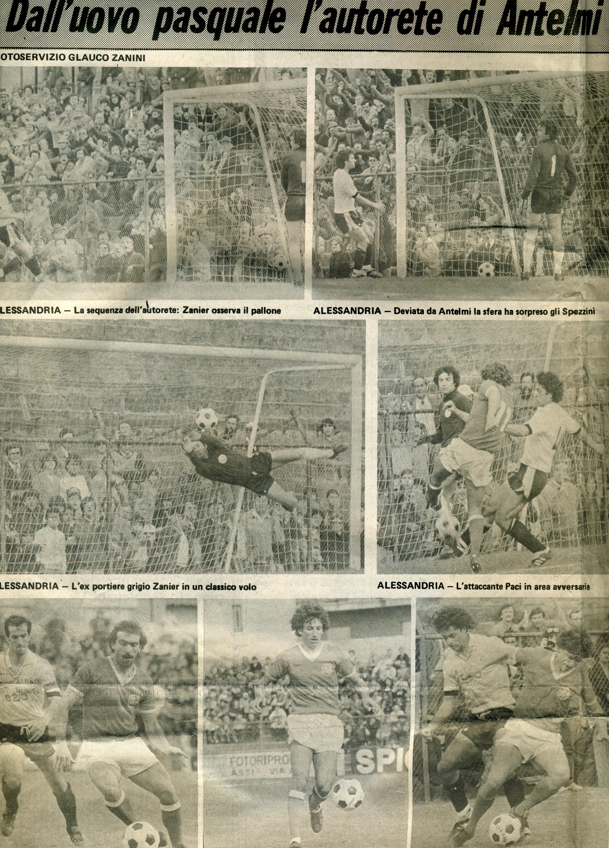 Alessandria - Spezia 1982-83 (articolo del giornale ''Gisette'')(1)