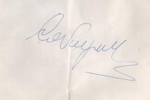 Autografo Ezio CAVAGNETTO