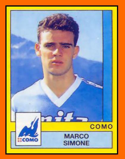 Marco SIMONE - Panini Como et Milan AC 1989 et 1990